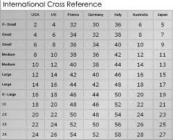 Men S And Women S Jeans Size Chart Matter Of Fact International Cloth Size Chart International
