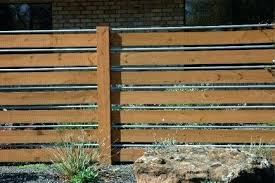 horizontal wood and metal fence. Contemporary And Horizontal Board Fence With Metal Posts Home How To Use Of Chain Link  Archives Design Intervention Inside Wood And Interior  In O