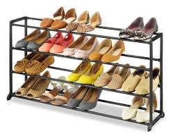 whitmor 4 tier 20 pair shoe rack vertical storage bench space saving portable home