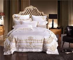 luxury royal embroidery duvet cover bed