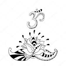 Om силуэт и символ цветка лотоса водяная лилия векторное