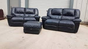 black leather 3 piece suite 2x2 seater sofa couch in southside glasgow gumtree