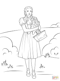 Small Picture Dorothy Holding Toto coloring page Free Printable Coloring Pages