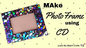make a cd photoframe at your home diy learn by watch crafts
