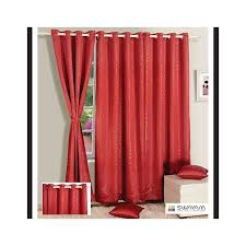 deep red jacquard blackout curtains 2055