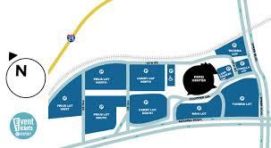 Map Of Parking Near The Pepsi Center In Denver Colorado