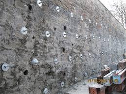 granton rening wall ilisation installed soil nails