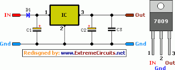9 volt 2 ampere dc power supply circuit diagram eeweb community 9 volt 2 amp dc power supply circuit diagram
