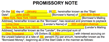 Promissory Note Word Template Free Promissory Note Templates Word Pdf Eforms Free