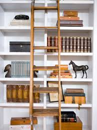 Hdsw Living Room Bookshelves Ladder S Rend Hgtvcom ...
