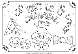 36 Dessins De Coloriage Carnaval Imprimer