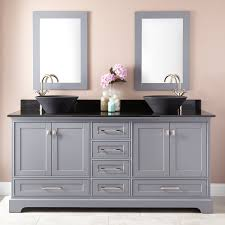 gray double sink vanity. 72\ gray double sink vanity signature hardware