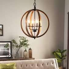 vineyard distressed gany and bronze 4 light orb chandelier