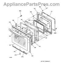 ge wb10t10007 hinge door appliancepartspros com part diagram