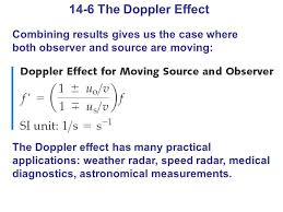 14 6 the doppler effect combining results gives us the case where both observer and