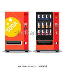 Soda Bottle Vending Machine Adorable Soda Vending Machine Beverage Bottle Vector Stock Vector 48