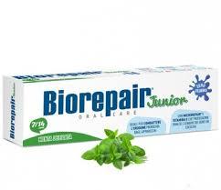 Детская <b>зубная паста Biorepair Junior</b> Mint с экстрактом мяты, 7 ...
