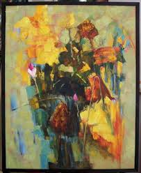 abstract paintings oil painting abstract flower 2 china oil painting