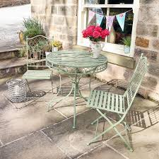 french bistro table sets for sale. a gentle green antique hue, with french bistro styling, these table and chairs are perfect for outdoor entertaining, or quiet evenings in the garden. sets sale s