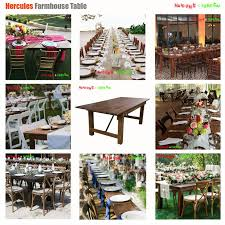 outdoor wooden folding farm dining table certificate of pine farm table