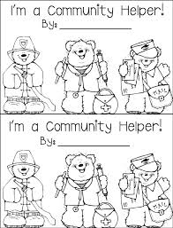 Community Helpers Coloring Book Community Helper Coloring Pages
