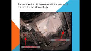 How to change the gearbox oil - YouTube