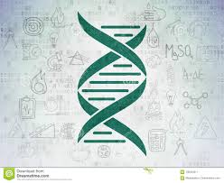 Green Chart Dna Science Concept Dna On Digital Data Paper Background Stock
