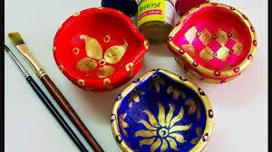 Diya Painting Designs Diwali Decor Diy Diya Decoration Ideas Easy Diya Painting Diy Diwali Decor Ideas