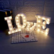 26 Letters Led Atmosphere Lamp To Spell Name Word For Bar Cafe