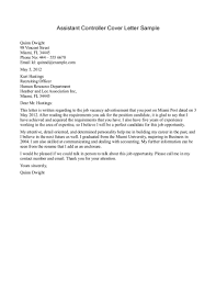 Cover Letter Cover Letter Example Accounting Cover Letter Examples