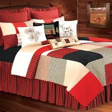 boulder ridge patchwork quilt bedding red poppy flower duvet cover set fl covers full size