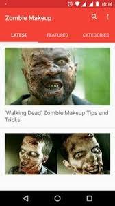 zombie face makeup video tutorial zombie makeup captura de pantalla 1