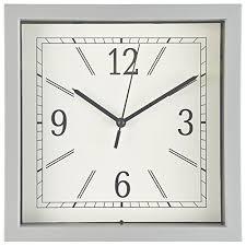 wall clock 9 inch gray square wall