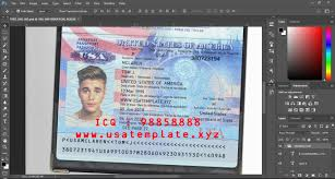 Us Passport Template Psd Usa Passport Editable Template Psd V 3 0 2019 Psd Template