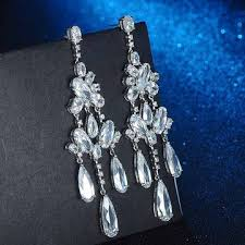 china holy and pure bride jewelry wedding white glass crystal drop chandelier