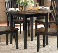 Homelegance Three Falls Round Dining Table With Drop Leaf Two Tone