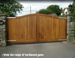 made to measure wooden driveway gates and garage doors