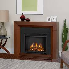 hughes electric fireplace in vintage black maple by real flame com