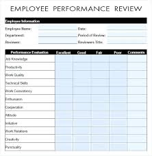 Employee Annual Review Template Best Of Unique Employee Employee