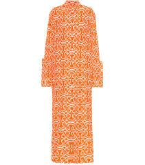 Printed fil coupé shirt dress