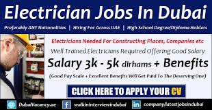 Industrial Electrician Salary Electrician Jobs In Dubai Uae With Good Salary All