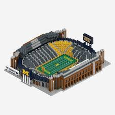 Michigan Wolverines Football Stadium Lego Type 3d Building Set Ncaa Age 12 New