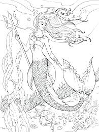 Mermaid Coloring Pages For Adults Inspirational Mermaid Coloring