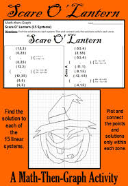 celebrate with this festive coordinate graphing activity this activity gives students practice solving systems