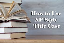 apa style front cover how to correctly use ap and apa style title case