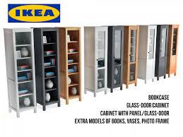 ikea hemnes bookcase and glass door cabinet 3d model in household items 3dexport