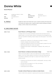 Event Planner Resume Objective Event Planner Resume Example Template Sample Cv Formal
