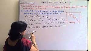 quadratic equation solution for problem number 6 exercise 4 3 ncert class 10