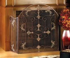 chain link mesh spark screen fireplace curtain