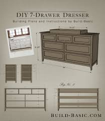 build a diy 7 drawer dresser building plans by buildbasic build